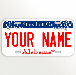 Alabama License Plate Vanity Plate