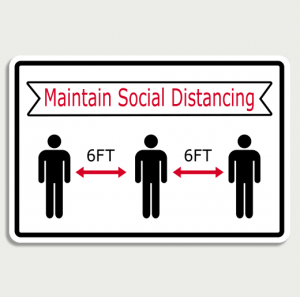 Covid 19 Maintain social distancing