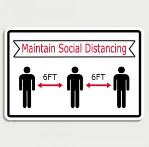 Covid 19 Maintain social distancing