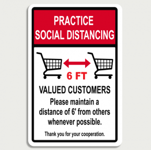Practice Social Distancing Sign