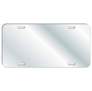 Acrylic-Mirror License Plate