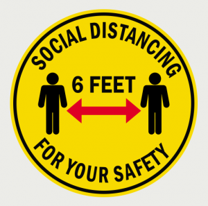Social Distancing Floor Decal-8