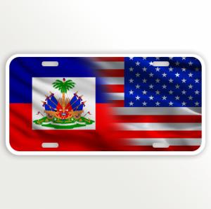USA HAITI FLAG