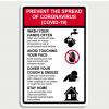 Сoronavirus Prevention Steps Vertical