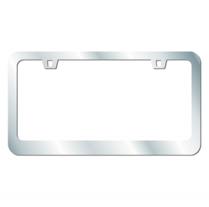 License Frame Chrome