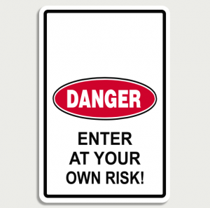 Danger Room Sign