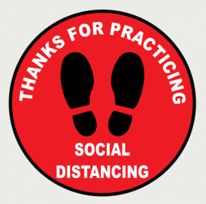Social Distancing Floor Decal 1