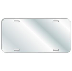 Acrylic-Mirror License Plate