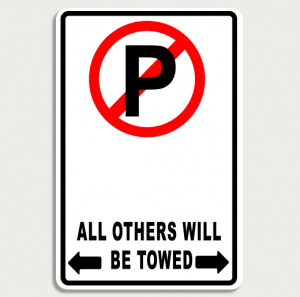 Private Parking Sign Name