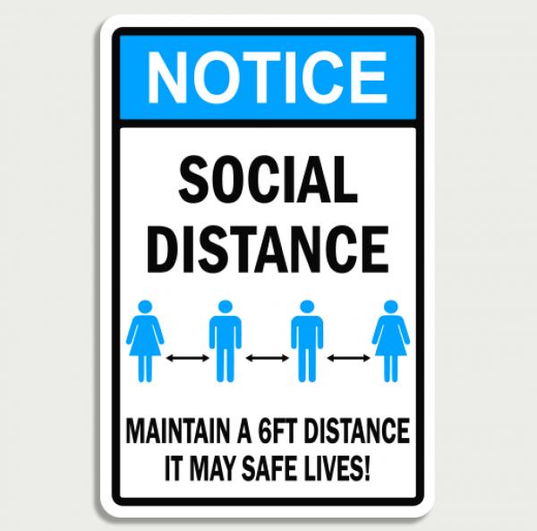 notice social distance