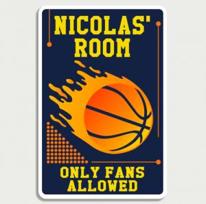 Basketball Orange Sign Name