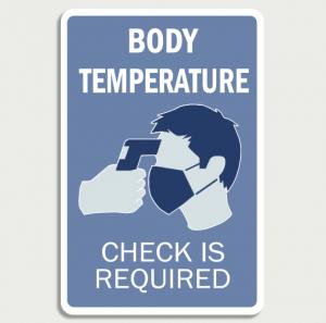 Covid 19 Body temperature  - Wall Sign