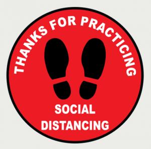 Social Distancing Floor Decal 1