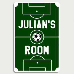 Soccer Field Sign Name