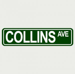 Sreet Sign 12X3 Collins Ave