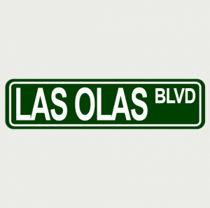 Sreet Sign 12X3 Las Olas Blvd