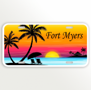 Sunset Multi color Beach Name