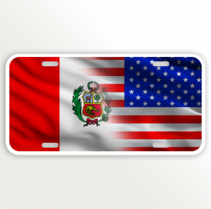 USA PERU FLAG
