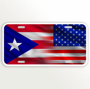 USA PUERTO RICO FLAG