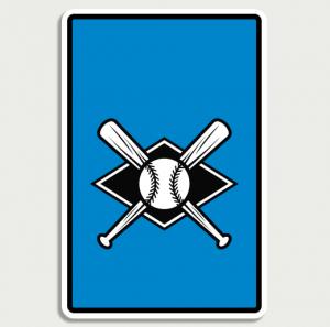 Baseball Blue Sign