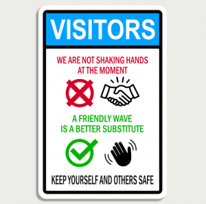 Visitors Friendly Wave - Wall Sign