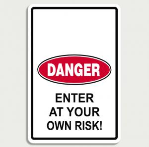 Danger Room Sign