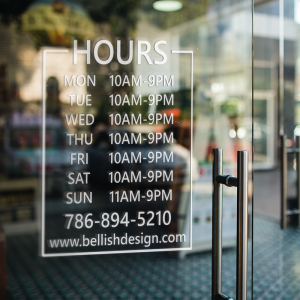 Store Hours Decal3