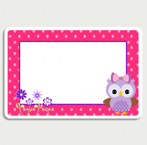 Owl Pink Room Sign No Name