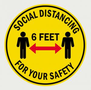 Social Distancing Floor Decal-8