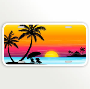 Sunset Multi color Beach